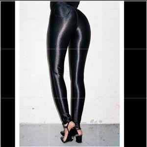 American Apparel black high waisted disco pants